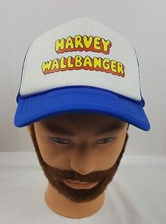 c7ac27be Harvey Wallbanger Vintage Old School Mesh Trucker Liquor Drink Snapback Hat  Caps