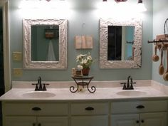 A Well Loved Home: My Bathroom re-do and Master Bedroom