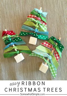 Ribbon Christmas Trees Craft - Somewhat Simple: