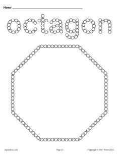 Free Octagon Q-Tip Painting Printable