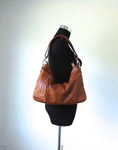 Leather hoboAdeleshop handmade Leather bag Messenger by Adeleshop, $140.00