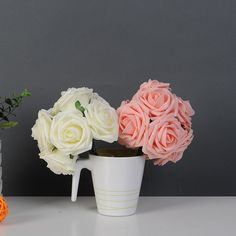 10 Heads Lovely Artificial Rose Flower Wedding Bridal Bouquet 2 Color - Wedding Look