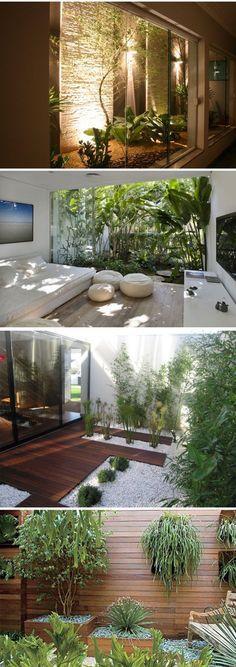 Backyard landscaping ideas garden privacy patio 21 Ideas for 2019 Exterior Design, Indoor Plants, Small Courtyards, Home And Garden, Interior Garden, Winter Garden, Indoor Garden, Outdoor Living, Patio Interior