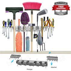 Track-Organizer-Storage-Wall-Hanging-Hooks-Garage-Tools-Holder-2-Tool-Platforms