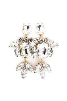 Averly Earrings in Crystal