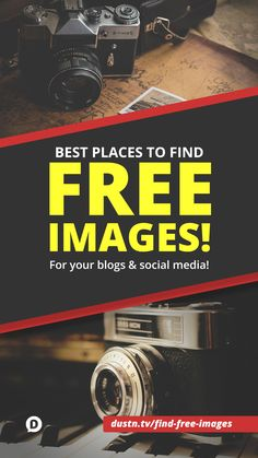My go-to list of the best resources to find free images to use in your blog posts, social media updates and websites! via @DustinWStout