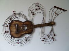 Superb Wanddeko wanddekoration metall gitarre ein Designerst ck von Dekogifts bei DaWanda