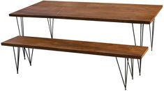 wooden table with metal legs - smaller scale needed