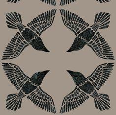 Ravens fabric by ceciliamok on Spoonflower - custom fabric