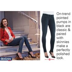 Denim jeans + black pumps = Match made in heaven. #DENIZEN #Jeans #Denim #Shoes