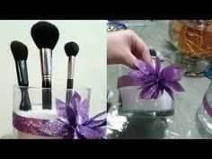 How to make a make up brush organizer