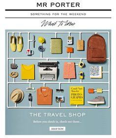 Mr Porter Travel Shop
