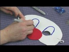 Making Foam Masks for Kid's Crafts : Drawing Clown Makeup on a Mask. Great for circus camp.