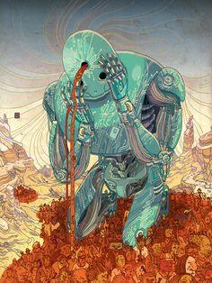 Victor Ngai est un illustrateur originaire de Hong Kong, qui vit actuellement à New York.