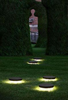 Recessed floor light fixture / LED / round / outdoor SKIFV Modular Lighting Instruments: