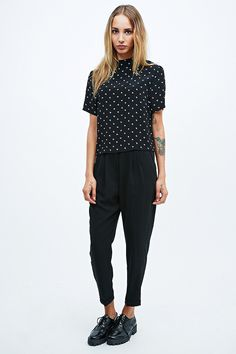 Cooperative by Urban Outfitters Slim Trousers in Black - Urban Outfitters