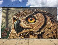 Street Art by Mrprvrt in Michigan Murals Street Art, Graffiti Murals, 3d Street Art, Amazing Street Art, Mural Art, Street Art Graffiti, Amazing Art, Graffiti Artists, Wall Mural