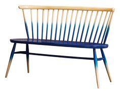 Ercol Love Seat - half blue