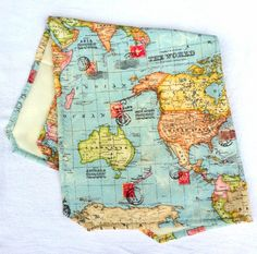 World Map Baby Blanket Welcome To The World Hello To The World Travel Blanket Minky Baby Blanket Babyshower Gift Holiday Vacation