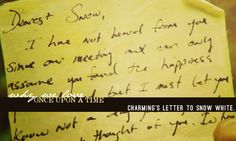 Charming's letter to Snow White.