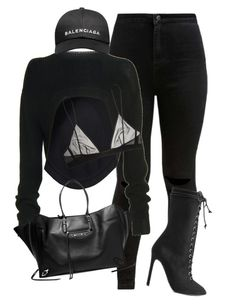 """""""Untitled #950"""" by mizzbehave on Polyvore featuring adidas Originals, Givenchy, Yves Saint Laurent and Balenciaga"""