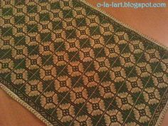 green-gold Green And Gold, Bohemian Rug, Cross Stitch, Rugs, Home Decor, Farmhouse Rugs, Punto De Cruz, Decoration Home, Room Decor