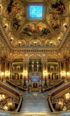 The Large Staircase, Opéra Garnier, Paris, France by fashion online