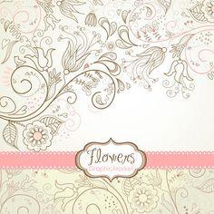 8 Flower Designs, digital paper and a floral border - Clipart for scrapbooking, wedding invitations, Personal and Small Commercial Use.. $4.99, via Etsy.