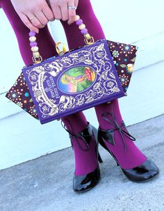 Amazing book purses by Kelly Mitchell on etsy