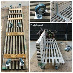 Sådan kan man bygget et udekøkken af traller - med rå hjul under - fra Kreahobshop