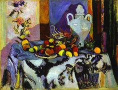 images of henri matisse famous paintings | Blue Still Life. 1907. Oil on canvas. Barnes Foundation, Lincoln ...