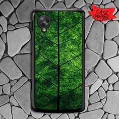 Green Leaf Texture Nexus 5 Black Case