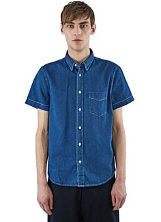 Men's Shirts - Clothing | Discover Now LN-CC - Isherwood Short Sleeved Denim Shirt