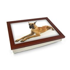 Great Dane Dog Lap Tray Personalised Gifts Unique, Unique Gifts, Lap Tray, Great Dane Dogs, Breakfast In Bed, Cloth Bags, Design Your Own, Wooden Frames, Cleaning Wipes