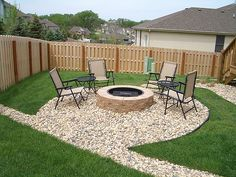 DIY Outdoor Fire Pit n Good neighbor fencing