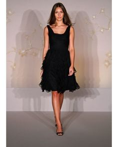 A-line Cowl Neckline Knee-length Chiffon Bridesmaid's Dress    AVAIL IN TONS OF COLORS  http://www.didobridal.com/black-a-line-cowl-neckline-knee-length-chiffon-wedding-party-cocktail-dress.html