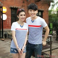 Casual Stripe Sleeve Couple Shirt (Pair) for only P749 at ShopThisEasy, Click Here: http://www.shopthiseasy.com/shops/casual-stripe-sleeve-couple-shirt-3380b.html