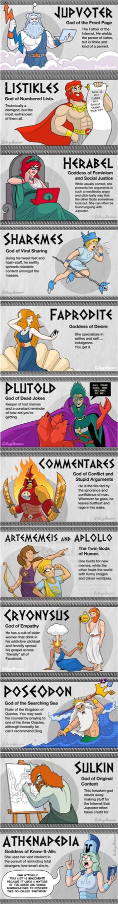 The 13 Gods of the Internet Pantheon :-D