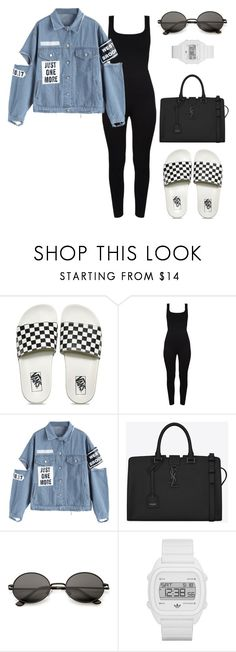 """""""Untitled #2780"""" by ceairrarenee on Polyvore featuring Vans, Yves Saint Laurent and adidas"""