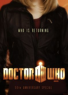 Rose Tyler. DW 50th Anniv. Please let it be...Maybe it's just me, but I would love it if David Tennent came back as 10.5 with Rose (as John Smith) for the anniversary. Give all of us 10 & Rose fans a chance to see them happy at last :)