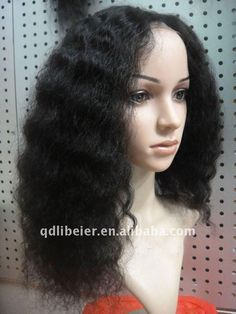 Find More Wigs Information about 20inches 100% brazilian virgin human hair full lace wig Afro natural black color,High Quality afro hair,China afro kinky full lace wig Suppliers, Cheap lace wigs wavy from Qingdao Li Beier Hair Products Co., Ltd.