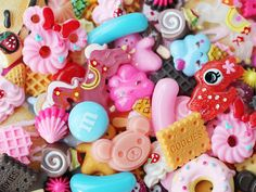 25pcs decoden sweets and kawaii assorted cabochons and embellishments on Etsy, $11.00