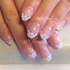 3d flowers French tip summer spring #nails