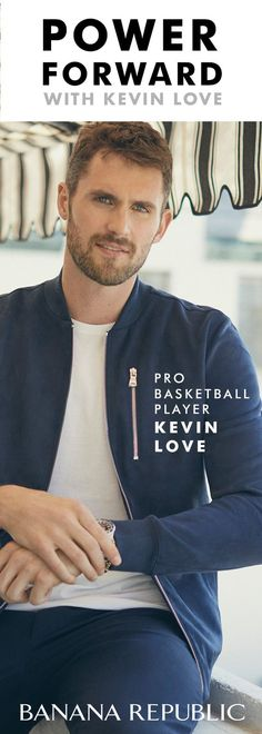 Make your style game strong. Pro basketball player Kevin Love starts his day in a Vegan Suede Bomber Jacket, Soft-Wash Crew and Aiden Slim Rapid Movement Chino. Exclusively at Banana Republic.