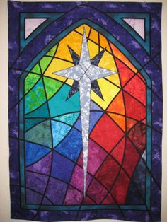 Custom Church Window Stained Glass Quilted by Great Quiltations