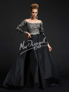 { Off-the-Shoulder Pageant Dress   Long Sleeve Prom Dress   Mac Duggal Style 82403Y }
