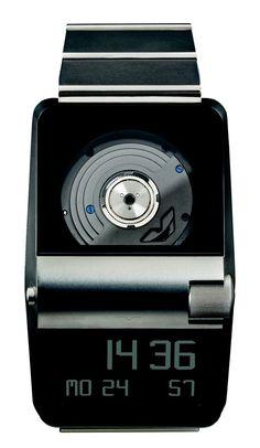 Montre digitale et automatique Ventura Sparc MGS. Quand une montre à affichage digital génère son énergie via un mouvement automatique : Ventura Sparc MGS.