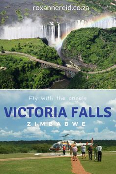 Helicopter flip over Victoria Falls, Zimbabwe #travel #Africa