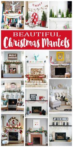 Beautiful Christmas Mantels | Christmas Decorations