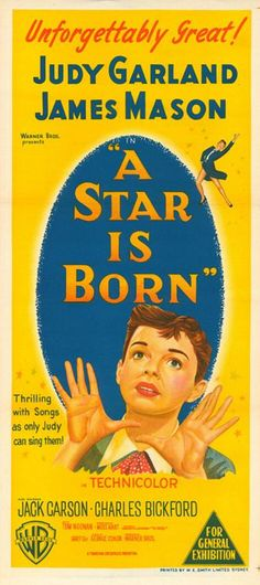 Official theatrical movie poster ( of for A Star is Born Directed by George Cukor. Movie Posters For Sale, Classic Movie Posters, Cinema Posters, Film Posters, Classic Disney Movies, Classic Movies, Old Movies, Vintage Movies, Great Love Stories